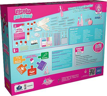 Výroba parfémů vědecká hra 13 pokusů Science 4 you v krabici 38x30x8cm