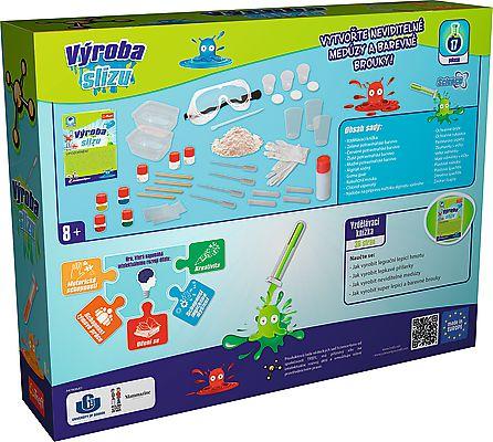 Výroba slizu vědecká hra 17 pokusů Science 4 you v krabici 38x30x8cm