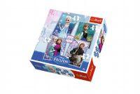 Puzzle Ledové království/Frozen 4v1 v krabici 28x28x6cm