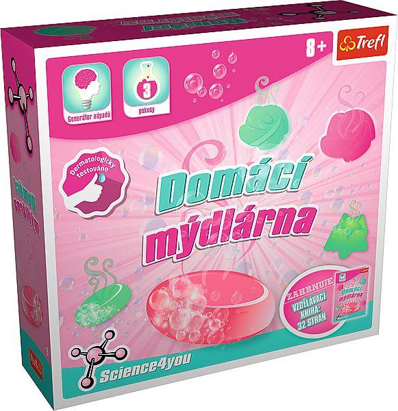 Domácí mýdlárna vědecká hra 3 pokusy Science 4 you v krabici 23x22x6cm