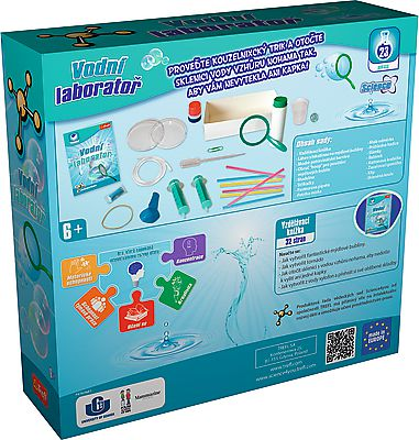 Vodní laboratoř vědecká hra 23 pokusů Science 4 you v krabici 23x22x6cm
