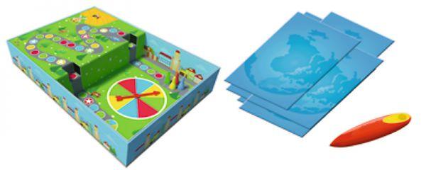 Malý objevitel Svět kolem nás + kouzelná tužka edukační společenská hra v krabici 33x23x6cm