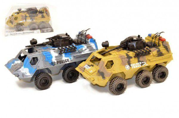 Auto obrněný transportér plast 30cm volný chod asst 2 barvy v krabici