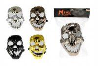 Maska plast 23cm asst 4 barvy karneval
