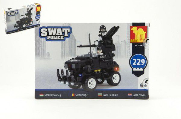 Dromader SWAT 49443 Stavebnice Policie Auto 229ks plast