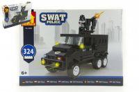 Stavebnice Dromader SWAT Policie Auto 324ks plast v krabici 38x28x6cm