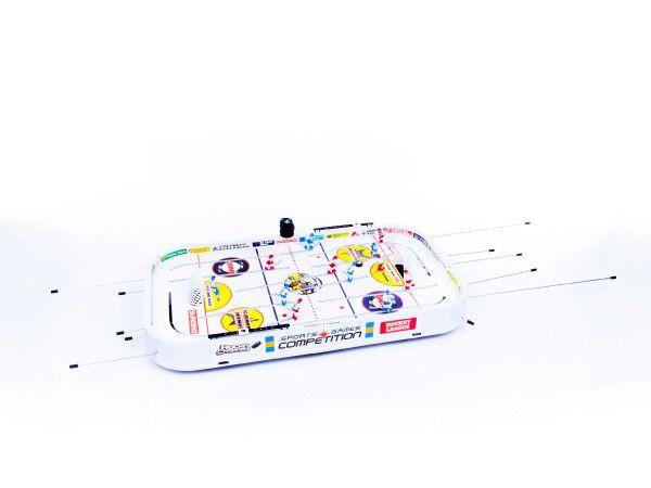 Hokej společenská hra 96x58x12cm plast kovová táhla bez počítadla v krabici