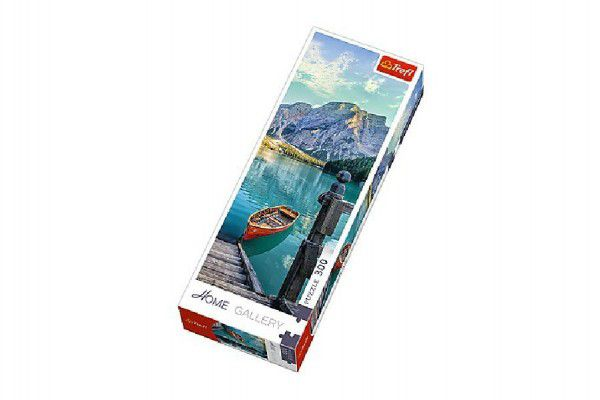 Puzzle Horské jezero 300 dílků 16x48cm v krabici 10x26,5x4,5cm