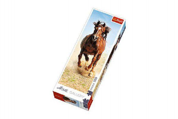 Puzzle Cválající kůň 300 dílků 16x48cm v krabici 10x26,5x4,5cm