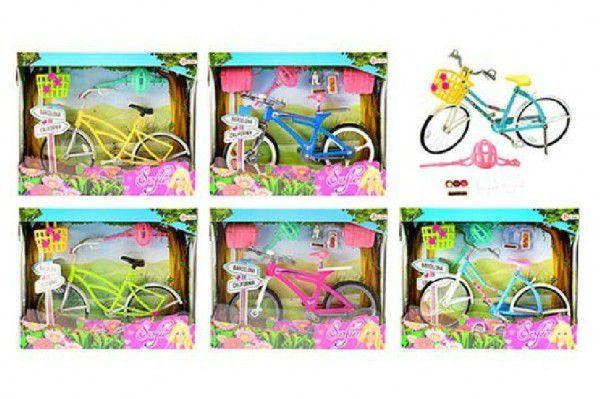 Kolo jízdní pro panenky 28cm + doplňky plast - 5 barev