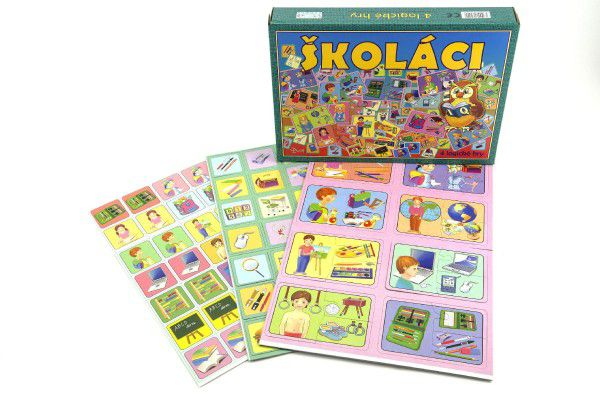 Školáci společenská hra v krabici 28,5x20x3,5cm