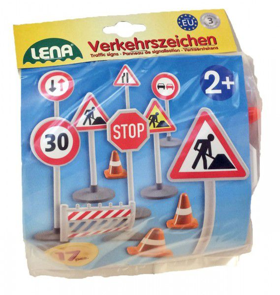 Dopravní značky plast 16cm 17ks v sáčku 2+