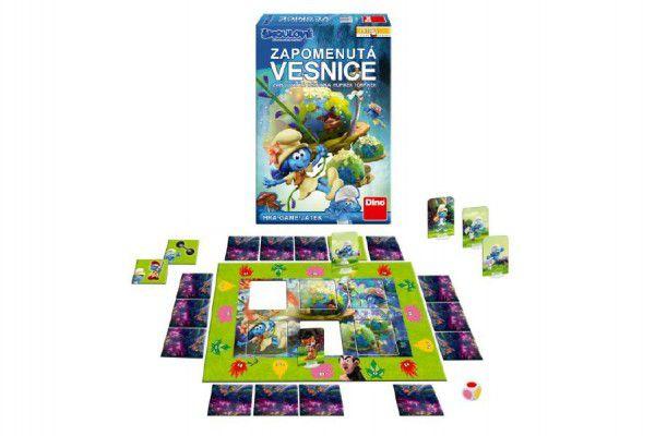 Zapomenutá vesnice Šmoulové 3 společenská hra v krabici 20x30x6cm