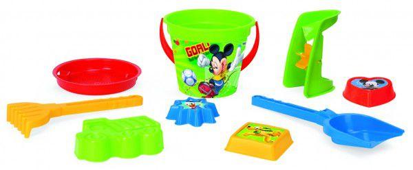 Sada na písek Mickey Mouse plast 9ks 35x23cm v síťce 12m+ Wader