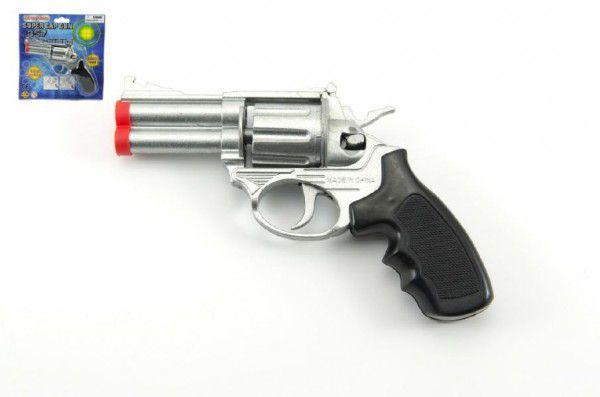 Teddies pistole kapslovka kov 16cm 8 ran na kartě