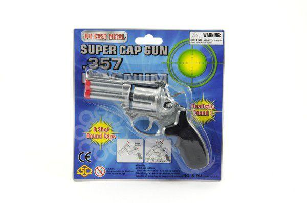Pistole kapslovka kov 16cm 8 ran na kartě