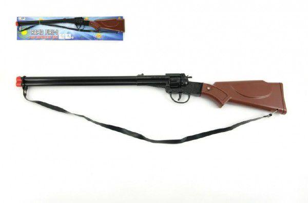 Teddies pistole puška kapslovka kov plast 65cm 8 ran na kartě