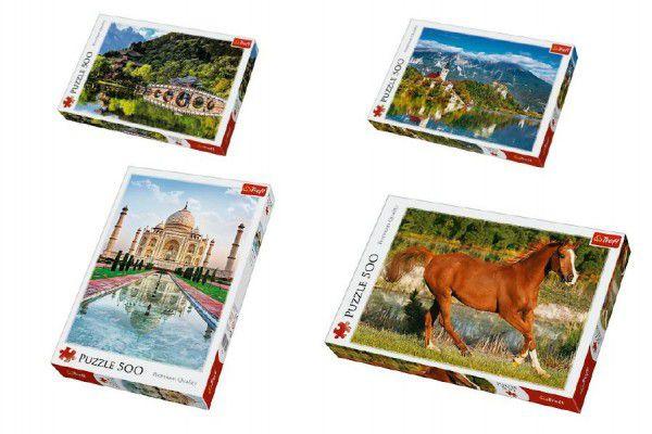 PACK Puzzle 500 dílků Black Dragon Pool, Lijiang + Puzzle 500 dílků Bled, Slovinsko v krabici