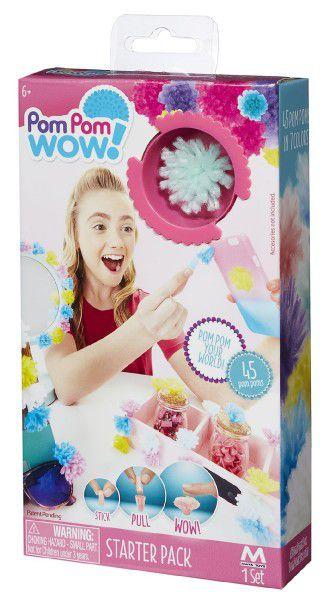 Kreativní sada Pom Pom Wow nalepovací střapce 45ks v krabici 11x20cm