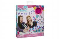 Kreativní sada Pom Pom Wow nalepovací střapce 50ks s doplňky v krabici 18x20x3cm