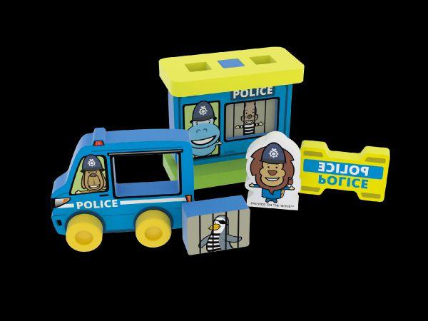 Moje první policejní stanice pěna 8ks v sáčku 20x24x5cm 0+