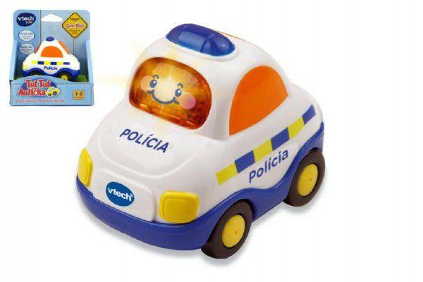 MENUG Autíčko Tut Tut Policie česky mluvící plast 8cm na baterie se zvukem se světlem v krabičce Vtech