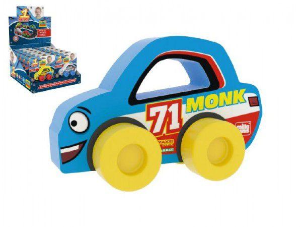 Moje první závodní auto Monk 71 modré pěna 9x6cm na kartě 0+