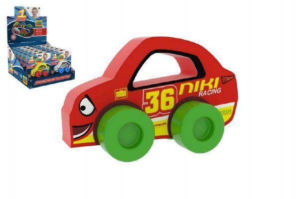 Moje první závodní auto Niki 36 červené pěna 9x6cm na kartě 0+