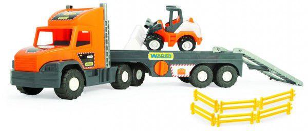 Auto Super Tech Truck s nakladačem plast 78cm v krabici Wader