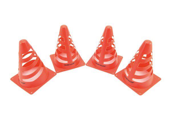 Kužely 4ks plast 18cm v síťce