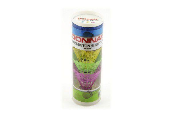Míčky/Košíčky na badminton plast 5ks v tubě, 2 barvy 6x19x6cm