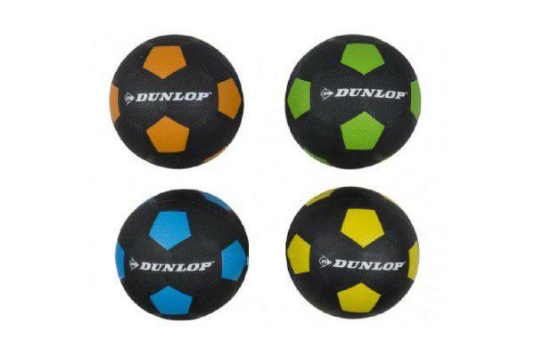 Míč fotbalový 20cm Dunlop vel. 5 gumový asst 4 barvy v sáčku
