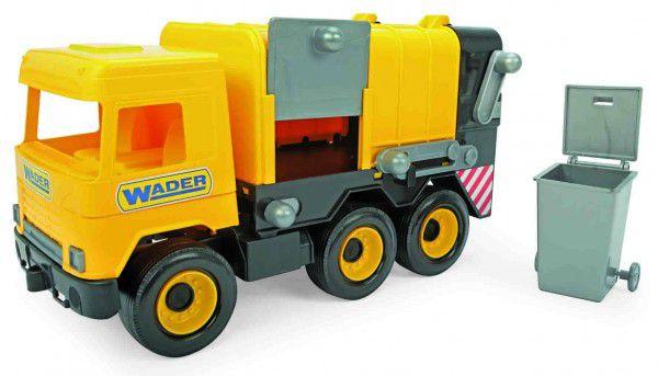 Auto middle Truck popelář plast 42cm žlutý v krabici Wader