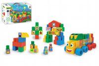 Kostky stavebnice Middle Blocks plast 140ks v krabici 59x35x20cm Wader