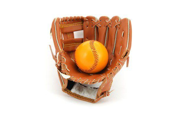 Baseballová rukavice + míček kožená vel. 8,5