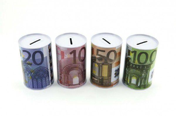 Pokladnička EURO plech 8x12,5cm asst 4 druhy