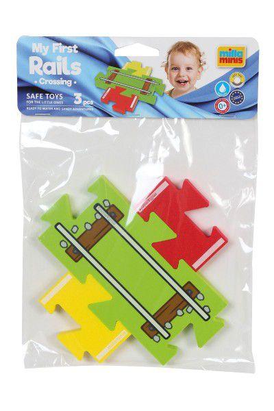Moje první koleje – přejezd puzzle pěna 3ks v sáčku 18x26cm 0+