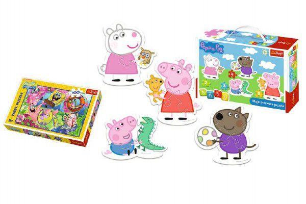 Trefl PACK Baby Peppa Pig + v krabici 100 dílků
