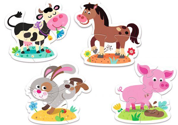 PACK Baby Puzzle Na vsi + Puzzle 100 dílků v krabici 29x19x10cm