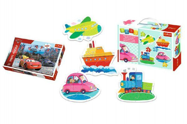 Trefl PACK Baby Dopravní prostředky + v krabici 100 dílků