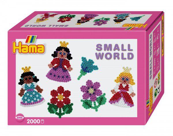 Zažehlovací korálky Malý svět - Princezna plast 2000ks v krabičce 18x12x6cm