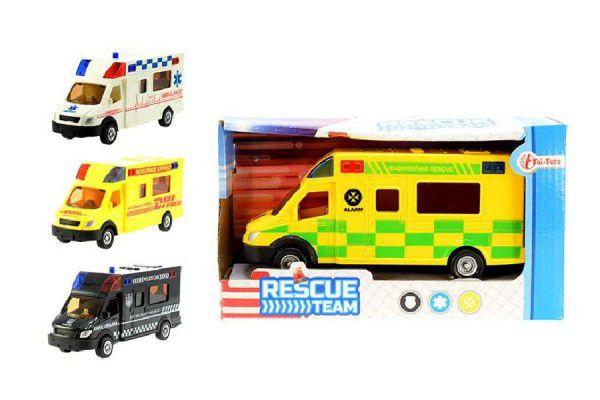 Auto záchranářské plast 18cm asst 3 druhy v krabičce