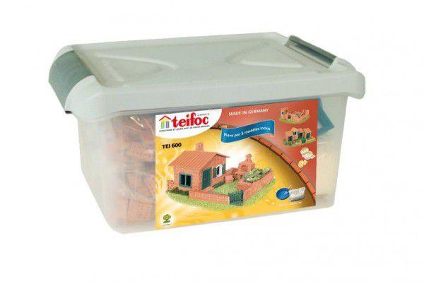 Stavebnice Teifoc Domek Raul II v plastovém boxu 41x19x30cm