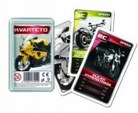 Kvarteto Moto II společenská hra - karty v plastové krabičce