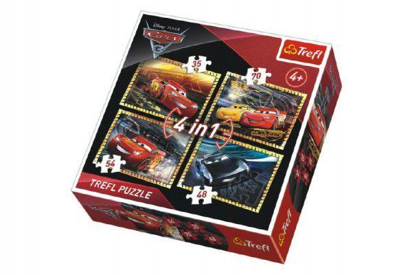 Trefl 4v1 CARS 3 35 48 54 a 70 dílků