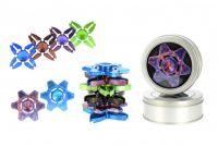 Fidget Spinner hliník  v plechové krabičce - 4 barvy