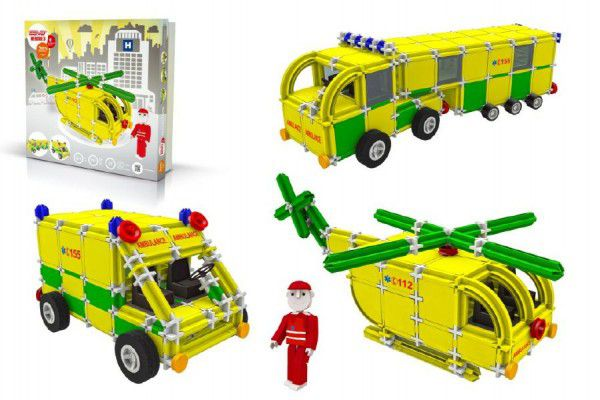 Seva Rescue Záchranáři 3 Stavebnice plast v krabici 35x33x8cm