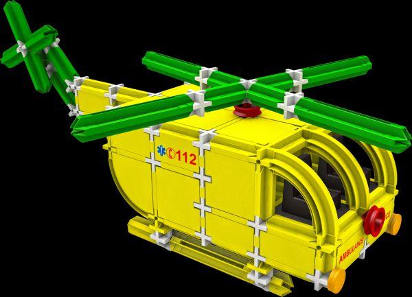 Stavebnice Seva Rescue 3 Záchranáři plast 537ks v krabici 35x33x8cm