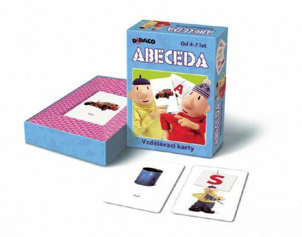 DIDACO vzdělávací karty abeceda Pat a Mat 2x23 karet v krabici 10x16x3cm