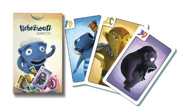 Kvarteto Lichožrouti společenská hra v papírové krabičce 6x9cm